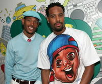 Marlon Wayans and Shawn Wayans at the MTV's Total Request Live.