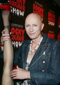 Richard O'Brien at the after party of the Rocky Horror Show.