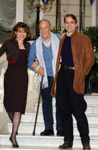 Fanny Ardant, Franco Zeffirelli and Jeremy Irons at the photo call for the promotion of the new movie