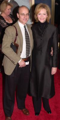 Peter Friedman and Joan Allen at the premiere of