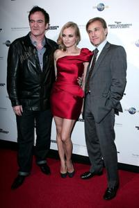 Quentin Tarantino, Diane Kruger and Christoph Waltz at the Sydney Gala premiere of