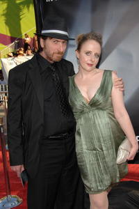 Frank Miller and Kimberly Cox at the world premiere of