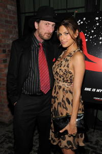 Frank Miller and Eva Mendez at the 2008 New York Comic Con party for