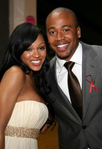 Columbus Short and Meagan Good at the 38th annual NAACP Image Awards.