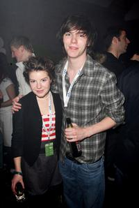 Nicholas Hoult and Guest at the Walkman Spring Fling Party.