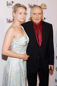 Samantha Morton and Dennis Hopper at the screening of the movie