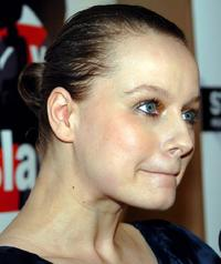 Samantha Morton at the Voice of Slavery event.