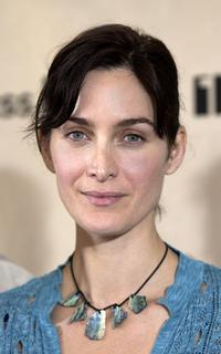 Carrie-Anne Moss at the nominations announcement of 2003 IFP Independent Spirit Awards.