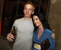 Mike White and Robin Tunney at the after party of