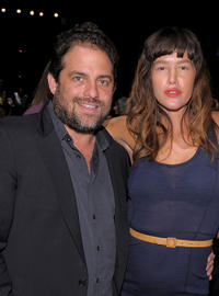 Brett Ratner and Paz De La Huerta at the Z Spoke by Zac Posen Spring 2011 fashion show during the Mercedes-Benz Fashion Week.