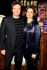 Colin Firth and his wife Livia Giuggioli at the afterparty following the world premiere of
