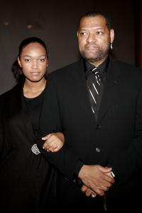 Laurence Fishburne and his daughter Montana at the National Dream Gala.