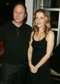 Bob Berney and Gillian Anderson at the after party of