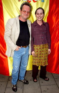 Tara Fitzgerald and Director Terry Gilliam at the premiere of