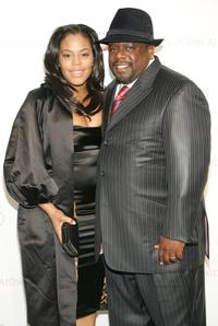 Cedric the Entertainer and his wife Lorna Wells at the 15th Annual Elton John AIDS Foundation Academy Awards.