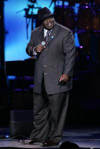 Cedric the Entertainer at the Dream Concert.