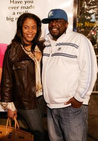 Cedric the Entertainer and a friend at the premiere of