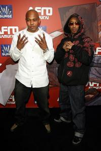 Sticky Fingaz and Fredro Starr at the Afro Samurai Video Game Launch Party.