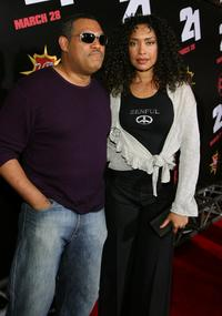 Laurence Fishburne and Gina Torres at the premiere of
