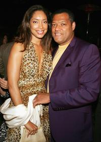 Gina Torres and Laurence Fishburne at the special screening of