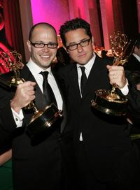Damon Lindelof and J.J. Abrams at the 57th Annual Emmy Awards Governor's Ball.