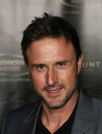 David Arquette arrives at the Hennessy Artistry Presents Fall Out Boy and Pharrell Williams at Paramount Studios.