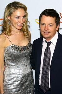 Michael J. Fox and Tracy Pollan at the
