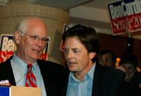Michael J. Fox and Rep. Ben Cardin at the campaign rally for U.S. Senate.