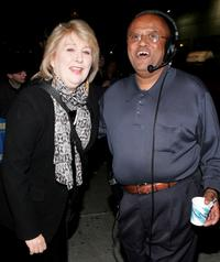 Teri Garr and Biff Henderson at the Ed Sullivan Theater for taping of