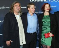 Franka Potente, Paul Greengrass and Matt Damon at the German premiere of