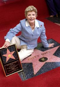Patty Duke at the ceremony honoring Duke with a star on the Hollywood Walk of Fame.