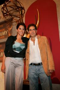 Jami Gertz and Michael Imperioli at the 57th Annual Primetime Emmy Awards Nominations at the Academy of Television, Arts and Sciences.