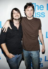 Cary Brothers and Zach Braff at the listening party for