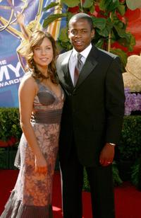 Nicole Lyn and Dule Hill at the 58th Annual Primetime Emmy Awards.