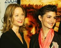 Audrey Tautou and Jodie Foster at the AFI Fest 2004 screening of