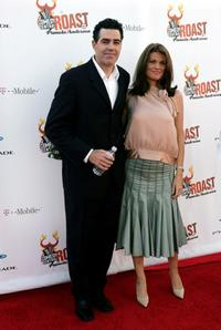 Adam Carolla and Lynette Paradise at the Comedy Central Roast of Pamela Anderson.