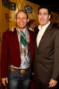 Charles Herman-Wurmeld and Adam Carolla at the premiere of