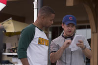 Cuba Gooding, Jr. and director Fred Savage on the set of
