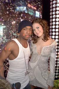 Ja Rule and Mandy Moore at the MTV's New Years Eve 2002 party.