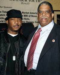 Ja Rule and Leroy Comrie at the press conference announcing the LIFE Camp Benefit.