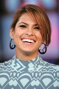 Eva Mendes at the MTV's Total Request Live.
