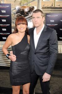 Natalie Mark and Sam Worthington at the premiere of