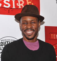 Wood Harris at the after party of the opening night of