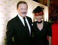 Robert Goulet and his wife Vera at the opening night of
