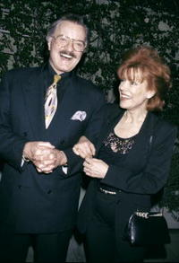 Robert Goulet and his wife Vera Novak at the Spago's restaurant.