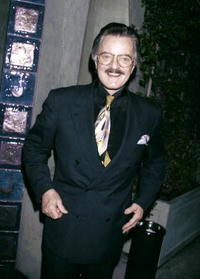 Robert Goulet at the Spago's restaurant.