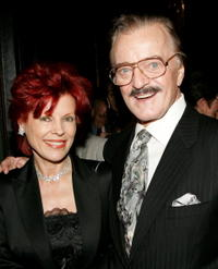 Robert Goulet and his wife Vera at the cocktail reception prior to a musical tribute to composer John Kander at the National Arts Club.