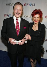 Robert Goulet and his wife Vera at the opening night performance of the Broadway musical