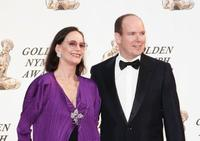 Claudine Auger and Prince Albert II of Monaco at the closing ceremony of the 46th Annual Monte Carlo Television Festival.