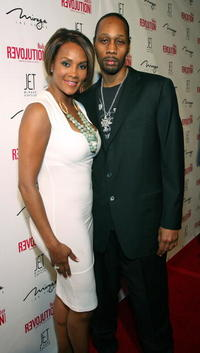 Vivica A. Fox and RZA at the dual birthday party for singer Stacy